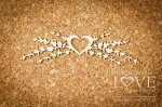 Chipboard - Ornament with heart and lavender - Sweet Lavender