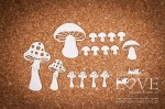 Chipboard - Mushrooms- Forest Camp