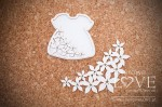 Chipboard - Daughter's dress - Flower