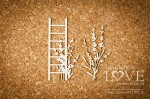 Chipboard - Ladder - Sweet Lavender