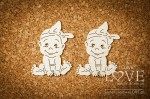 .Chipboard - Little girl - Emma & Billy