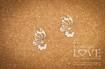 Chipboard - Two butterflies - Soufre