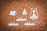 Chipboard - Kettle and campfire - Forest Camp
