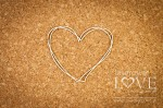 .Chipboard - Frame heart - Soufre