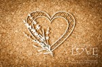 Chipboard - Heart with lavender - Sweet Lavender
