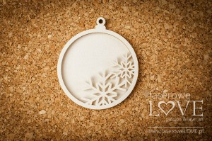 Chipboard - Bubble with snowflake shaker box - Winter Fun