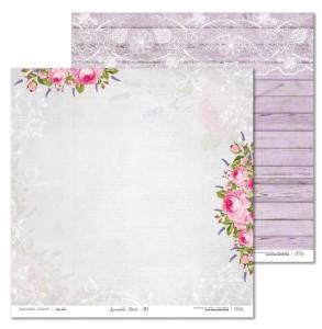 Papier 30x30 cm - Lavender Date - 01 Laserowe LOVE