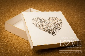 Box Indiana heart, 16x16 cm