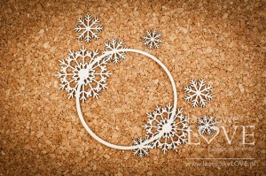 Chipboard - Delicate frame with snowflakes - Arctic Sweeties