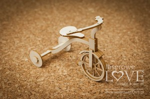.Chipboard - Tricycle 3D - Vintage Baby