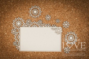 Chipboard -  Big rectangular frames with snowflakes - Arctic Sweeties