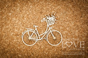.Chipboard - Retro bicycle - Sweet Lavender