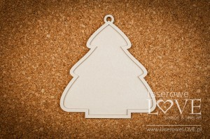 Chipboard - Double Christmas tree - base - Vintage Christmas