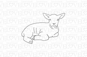 Rubber stamp - Lamb - Yellow Spring