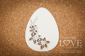 Chipboard - Base easter egg with daffodils - Yellow Spring
