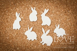 Chipboard - Rabbits - Yellow Spring