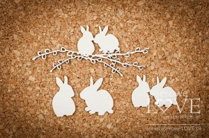 .Chipboard - Rabbits in love - Yellow Spring