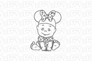 Rubber stamp - Minnie Mouse - Emma & Billy