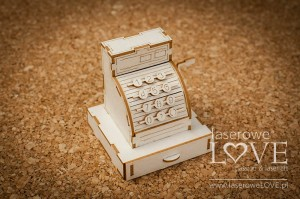 Chipboard -  Cash register 3D - Vintage Gentelman