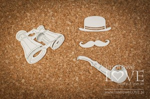 Chipboard - Accessories for man - Vintage Gentleman
