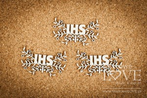 .Chipboard - IHS with plant motif - White and Innocent