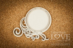 .Chipboard - Round frame - White and Innocent