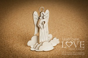 .Chipboard - Guardian angel among the clouds, 3D - White and Innocent