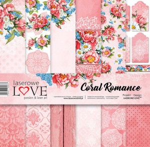 Set of papers - Coral Romance - 30,5 cm x 30,5 cm - Laserowe LOVE