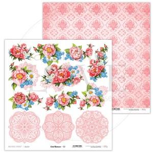Papier 30 x 30 cm - Coral Romance - 02 - Laserowe LOVE