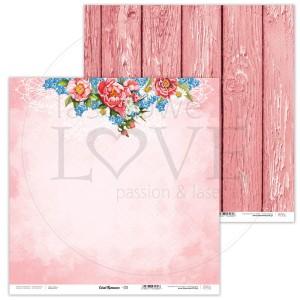 Papier 30 x 30 cm - Coral Romance - 03 - Laserowe LOVE