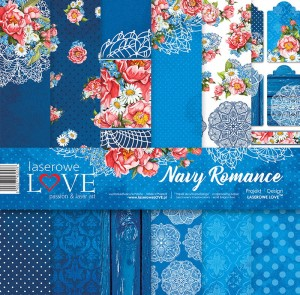 Set of papers - Navy Romance - 30,5 cm x 30,5 cm - Laserowe LOVE