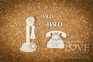 Chipboard - Antique telephones - Vintage Gentleman