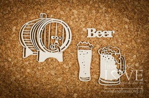 Chipboard - Beer - Vintage Gentelman