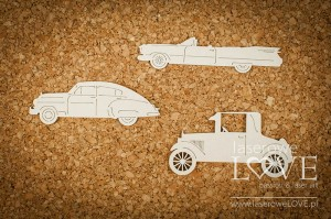 Chipboard - Antique cars (set) - Vintage Gentleman