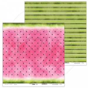 Papier 30 x 30 cm - Watermelon Summer - 02 - Laserowe LOVE