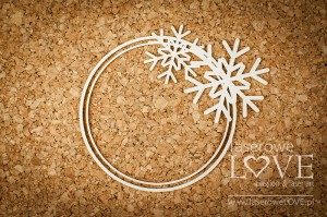 Chipboard - Frame with snowflakes - Winter Fun
