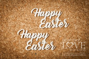 .Chipboard -  Happy Easter  - Easter Bunny