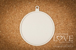Chipboard - Round Bauble - Vintage Christmas
