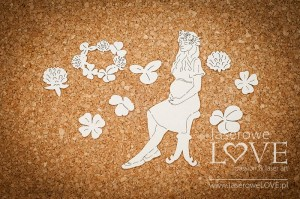 Chipboard - Spring Lady in pregnant -  Baby Boom