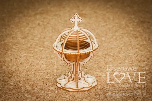 Chipboard - Baptismal font 3D -  Baby Boom