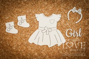 Chipboard - Set for girl -  Baby Boom