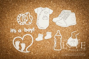 Chipboard - Accessories for a boy -  Baby Boom