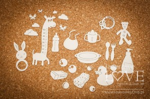 Chipboard - Accessories for a baby -  Baby Boom
