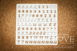 Chipboard - Big letters 12mm