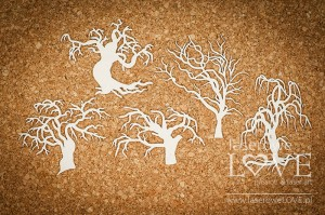 Chipboard - Scary trees  - Halloween Time