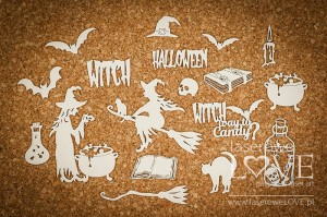 Chipboard - The Witch's Spell - Halloween Time