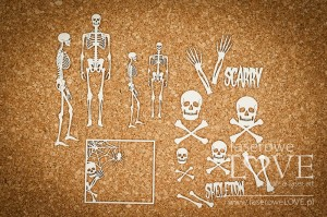 Chipboard - Skeletor, bones and skeletons  - Halloween Time
