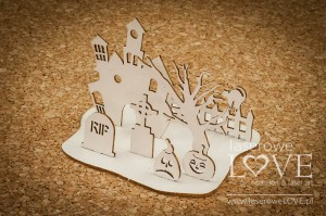 Chipboard - Haunted Cemetery 3D - Halloween Time