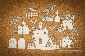 Chipboard - Haunted house  - Halloween Time