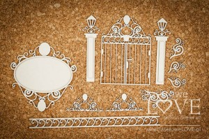 Chipboard - Gate and ornaments - Halloween Time